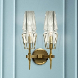 Antique Brass Metal Wall Sconces