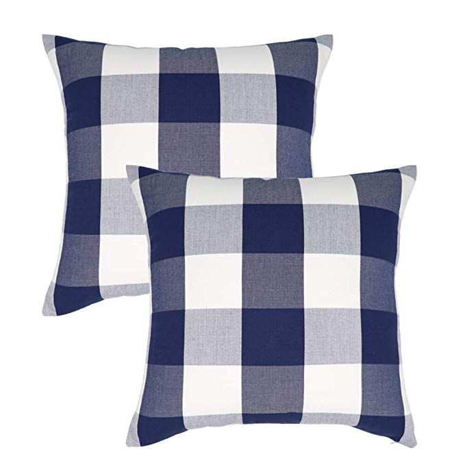 "Buffalo Check (18x18"") Throw Pillows"