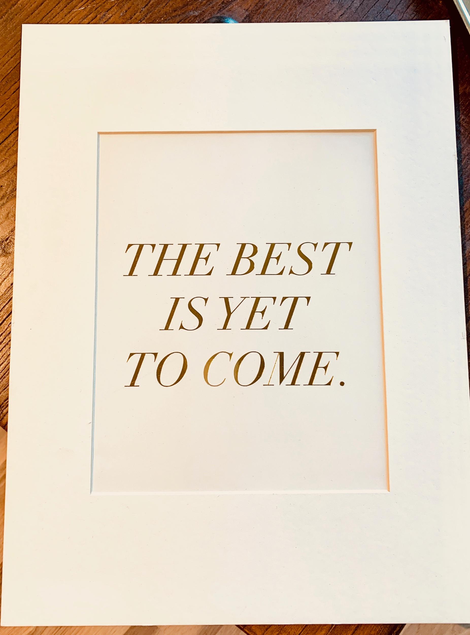 Believe it, feel it, embrace it, go with it.