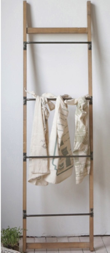 Metal & Wood Ladder Rack