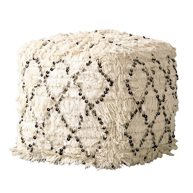 Cotton Quilted Pouf