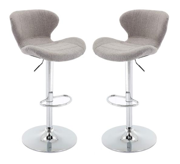 Upholstered Adjustable Bar Stools