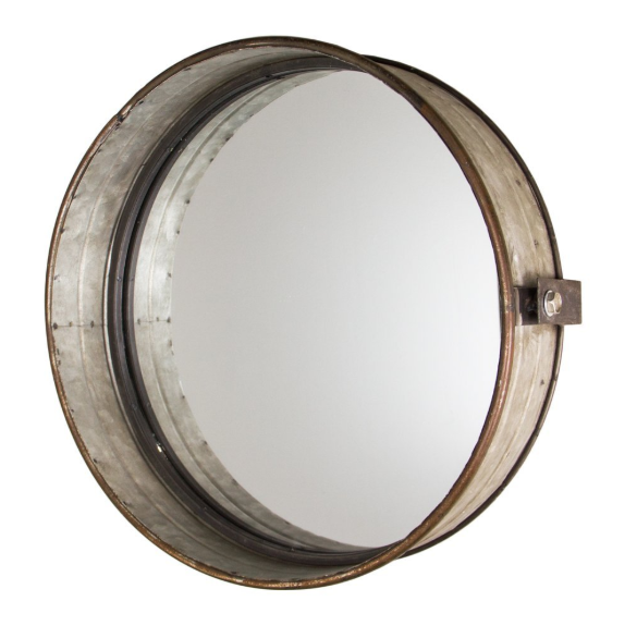 Industrial-style Distressed Mirror