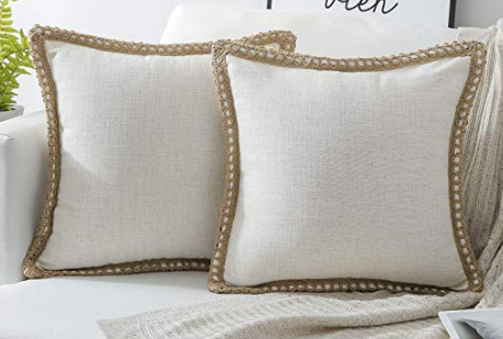 Burlap & Linen Throw Pillows
