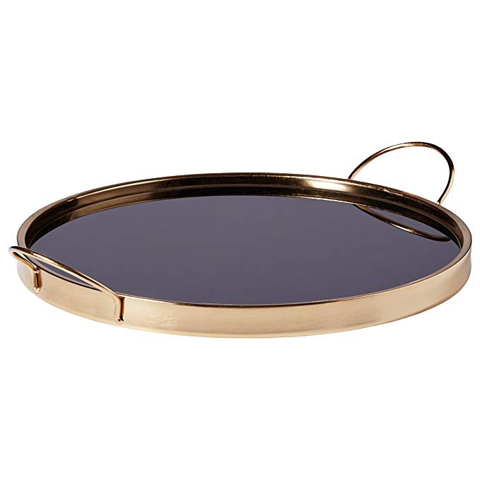 Rivet Contemporary Black & Gold Tray