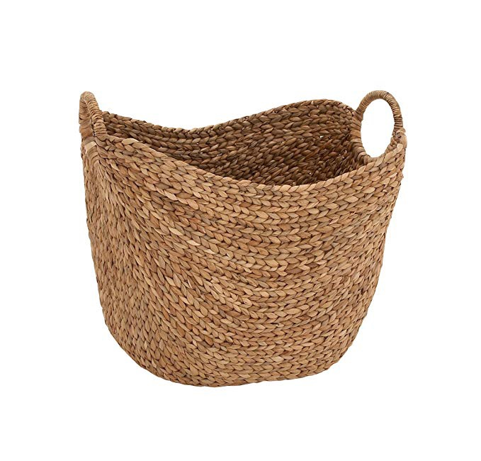 Seagrass Woven Wicker Basket (for extra towels or toilet paper)