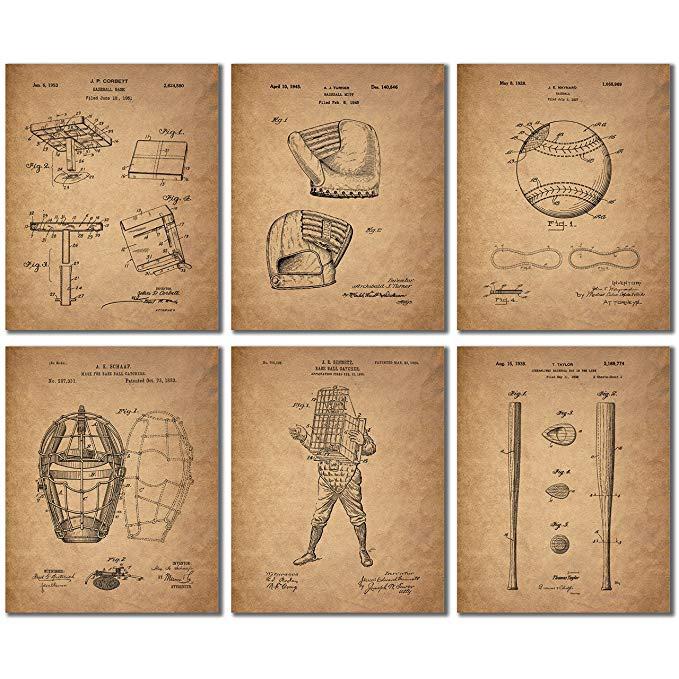 Vintage Baseball Patent Prints