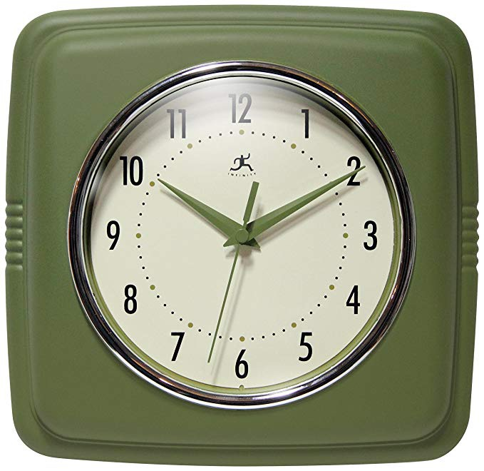 Sage Green Retro Wall Clock