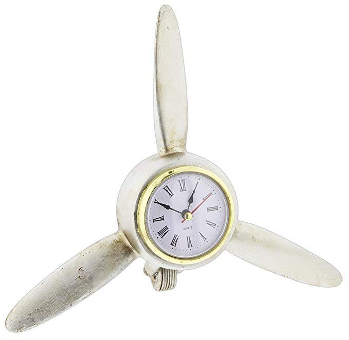 Airplane Propeller Blades Desk Clock
