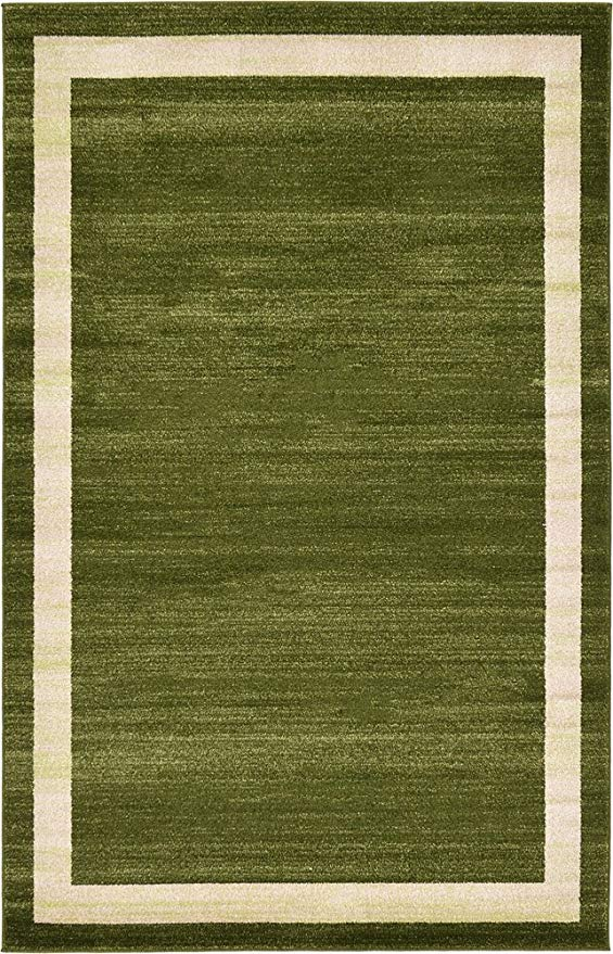 Transitional Green Area Rug