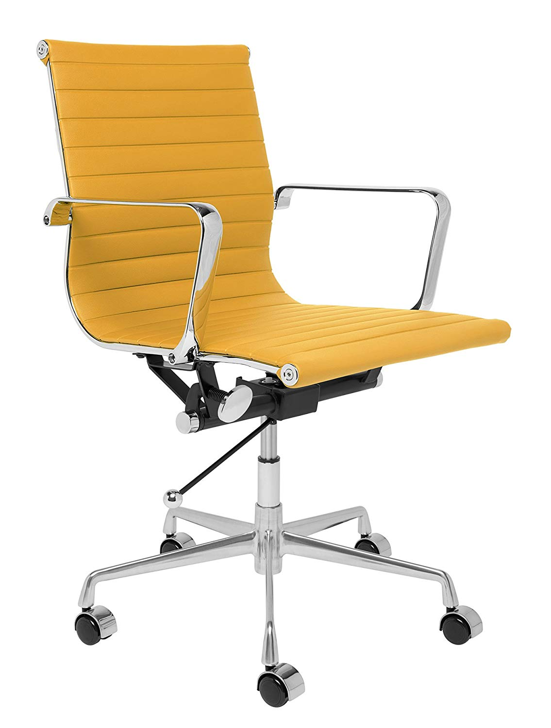 Ribbed Mid Century Mod Office Chair