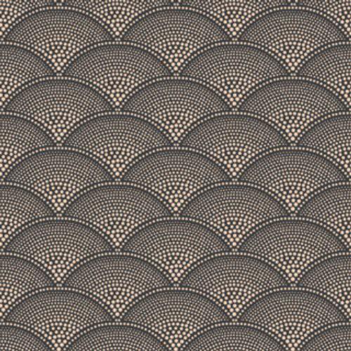 Feather Fan Charcoal & Bronze Wallpaper