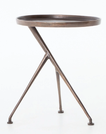 Antique Rust Accent Table