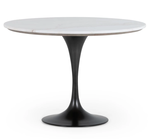 Powell Bistro Table in White Marble