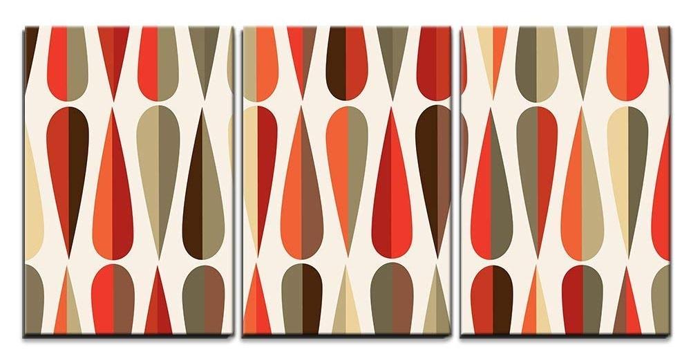 3-Piece Retro Pattern Canvas