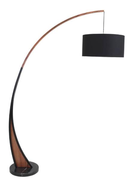 Noah Walnut Floor Lamp