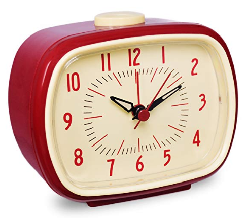 Red Retro Alarm Clock