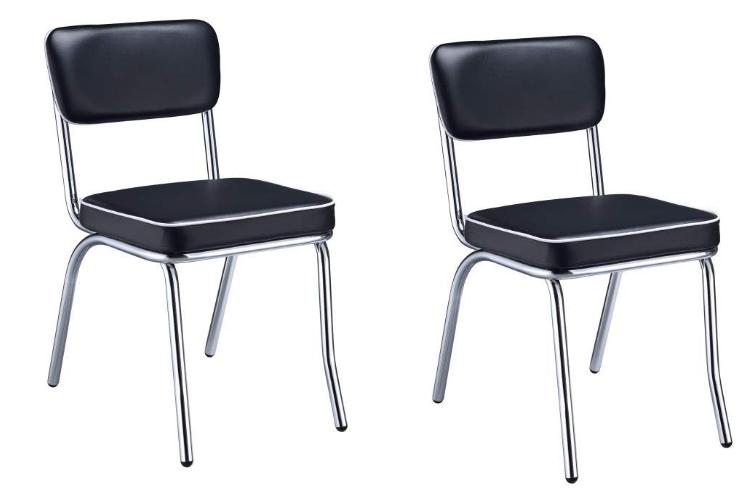 Black & Chrome Bistro Chairs