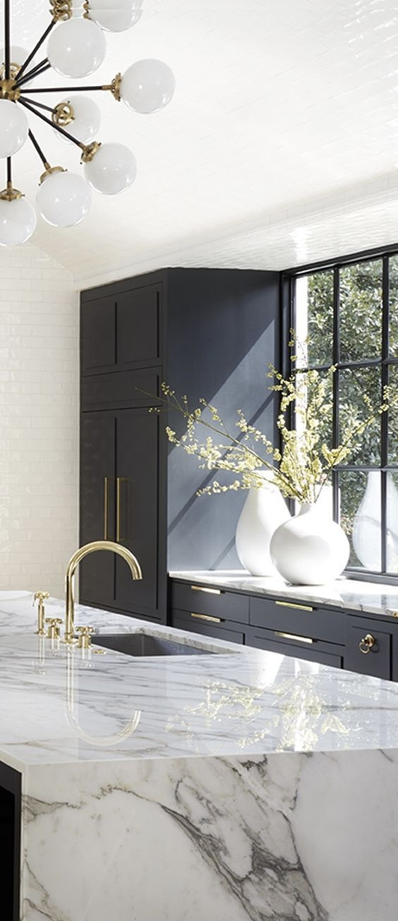 The major trend right now is all brass finishes… but what if you don't want to completely overhaul your kitchen?! Read on…  (   Courtesy of Pinterest   )