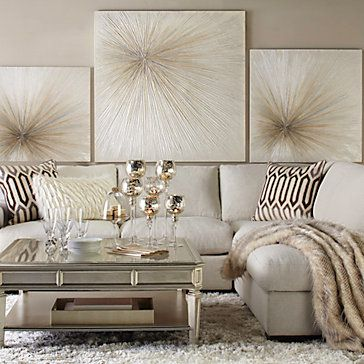 Shades of beige, taupe and black act as buffers between the different metallics present.   (Courtesy of Pinterest)