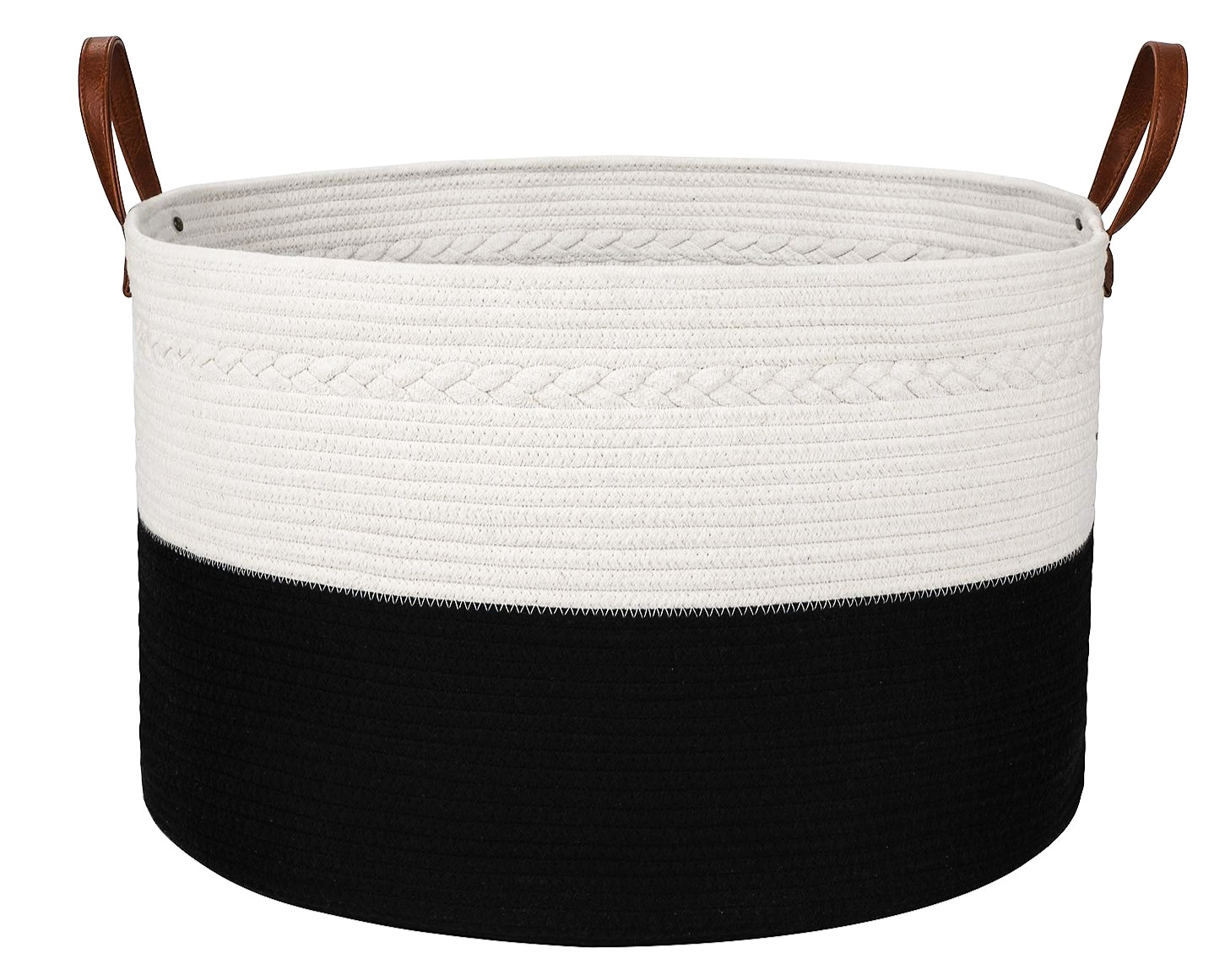 Oversized Cotton Rope Collapsible Basket