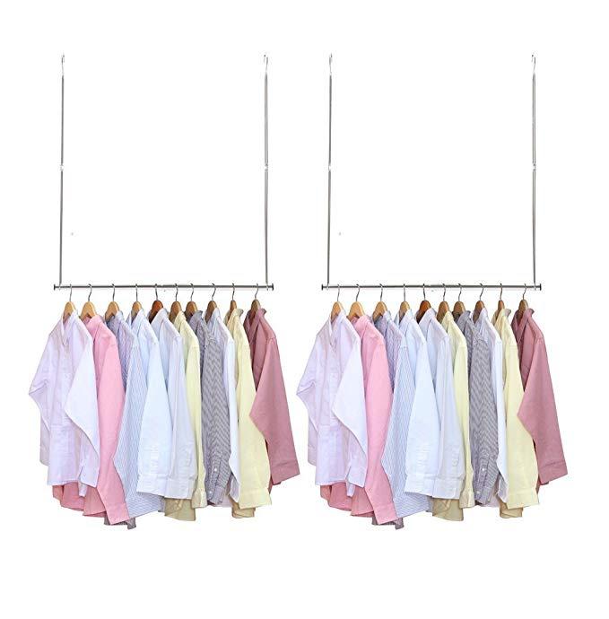 Adjustable Hanging Closet Rod (2pk)