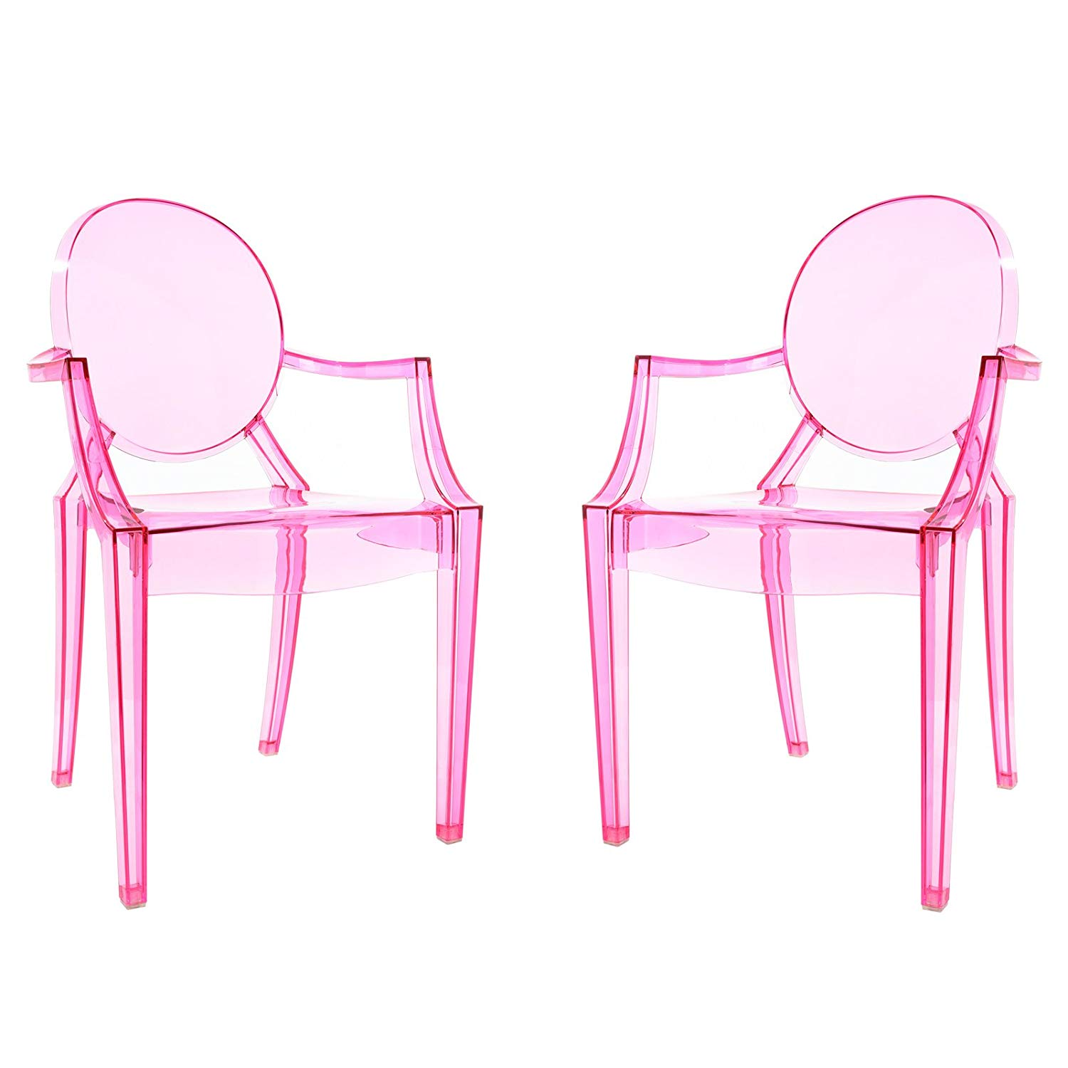 Pink Burton Acrylic Chairs (set of 2)
