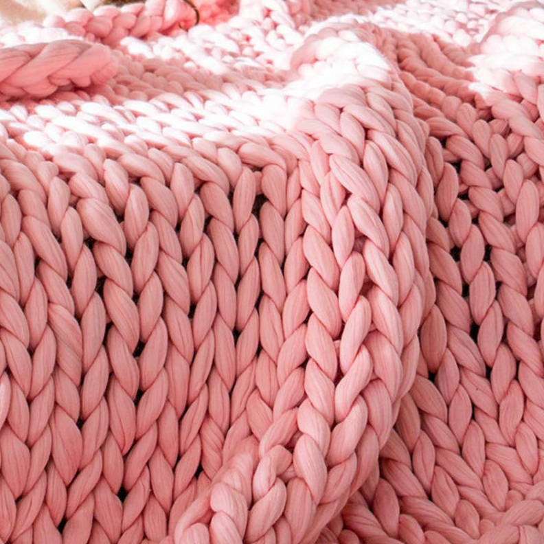 Handmade Chunky Knit Merino Throw