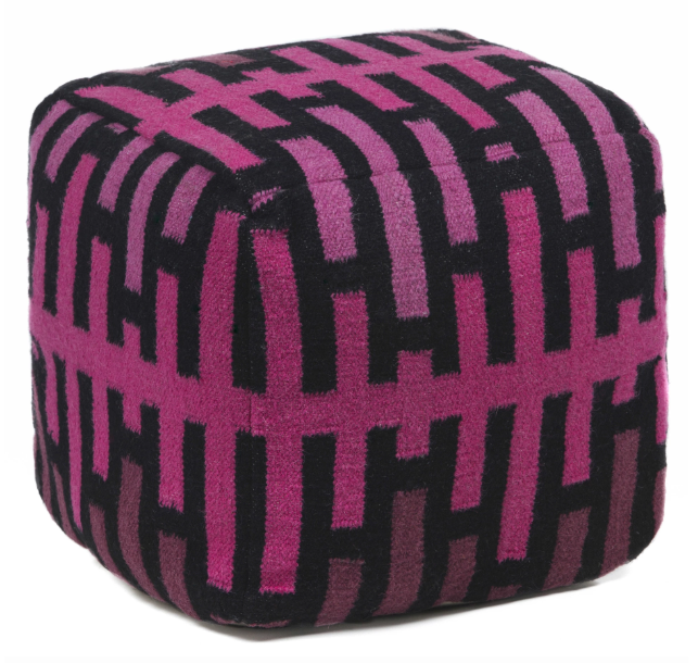 Hand-knitted Pouf