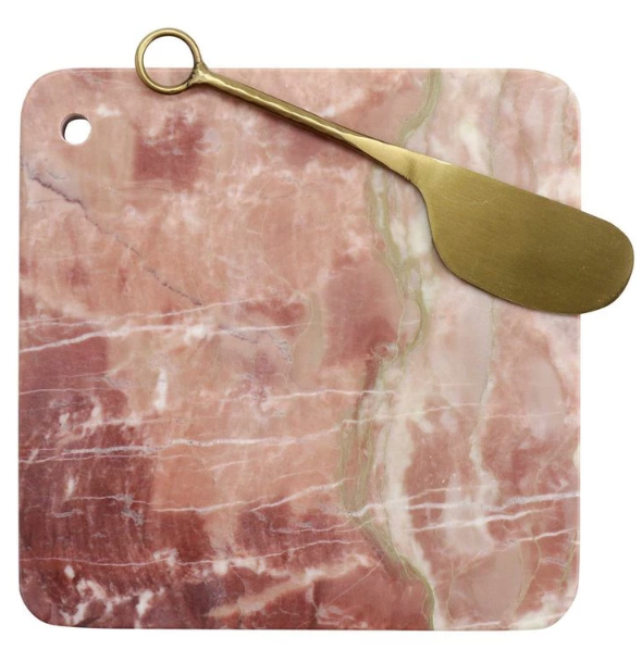 Pink Marble Cheese Board