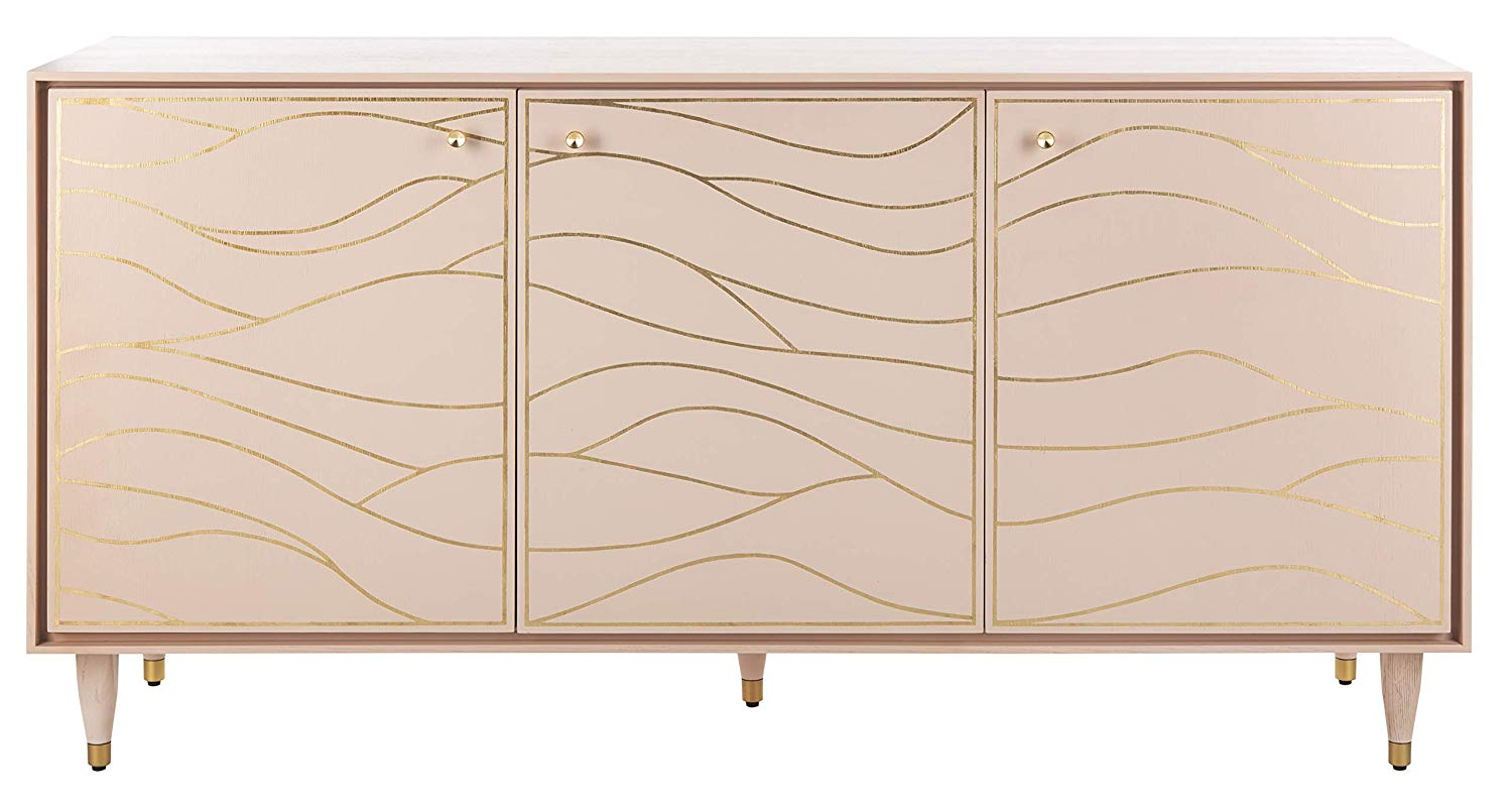 Pink & Antique Gold Sideboard