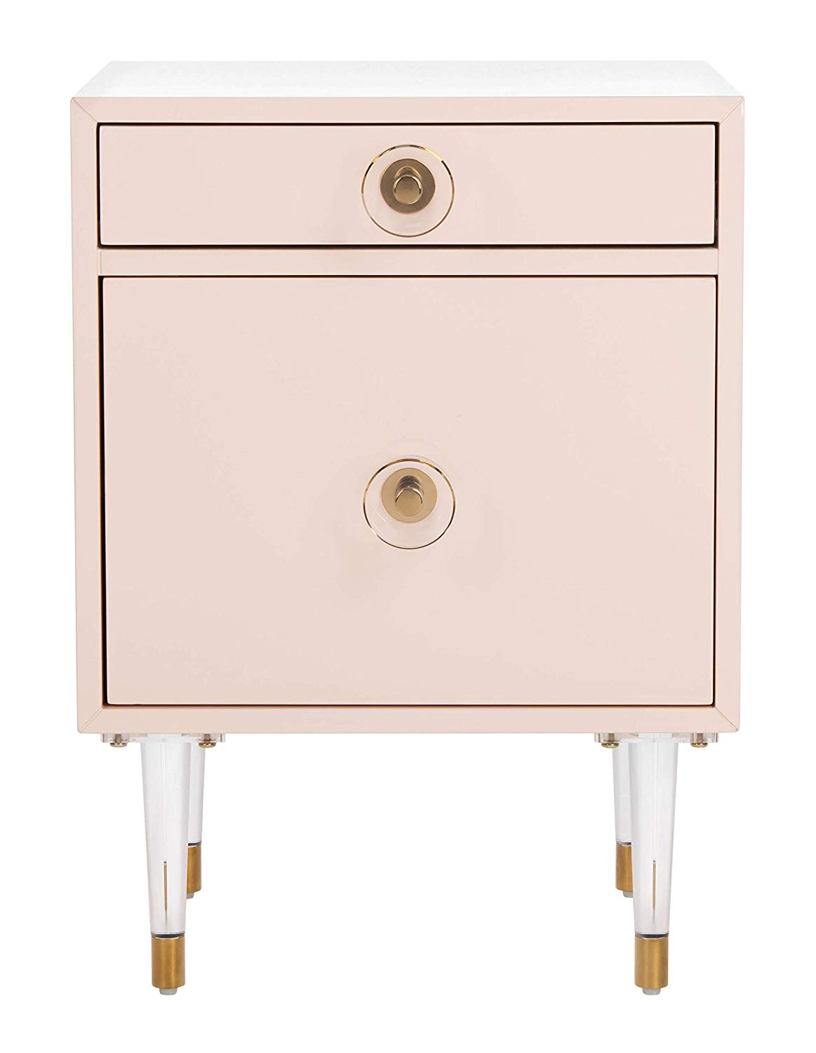 Light Pink & Gold Side Table