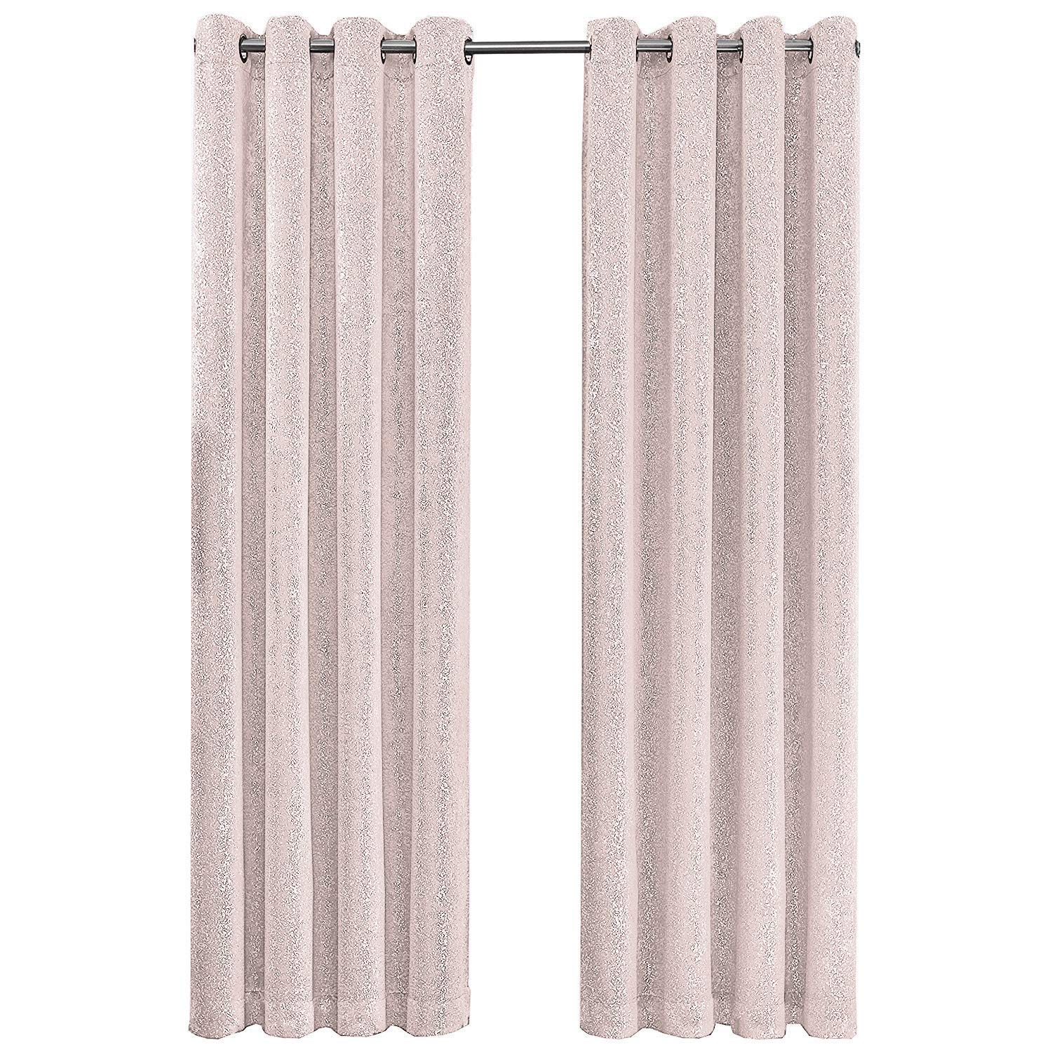 Sparkly Pink Blackout Curtains