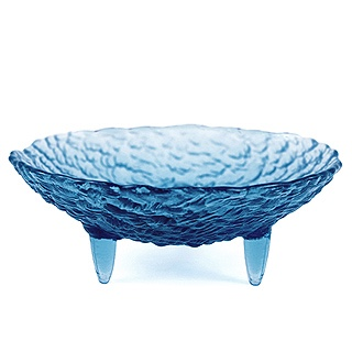 Footed Pebble Glass Soap DIsh