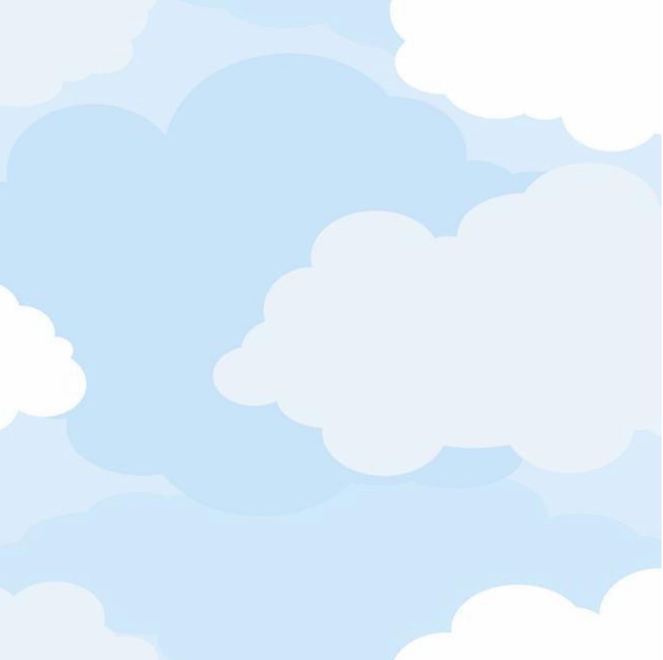 Soft Blue Cloud Wallpaper