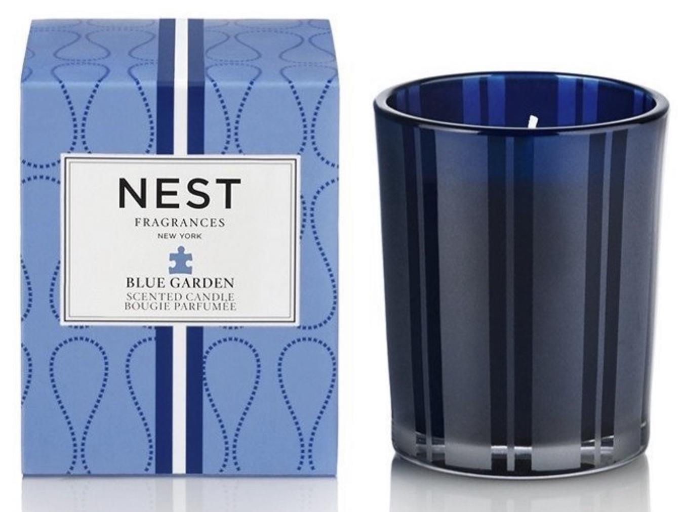 Blue Garden Votive Candle by Nest