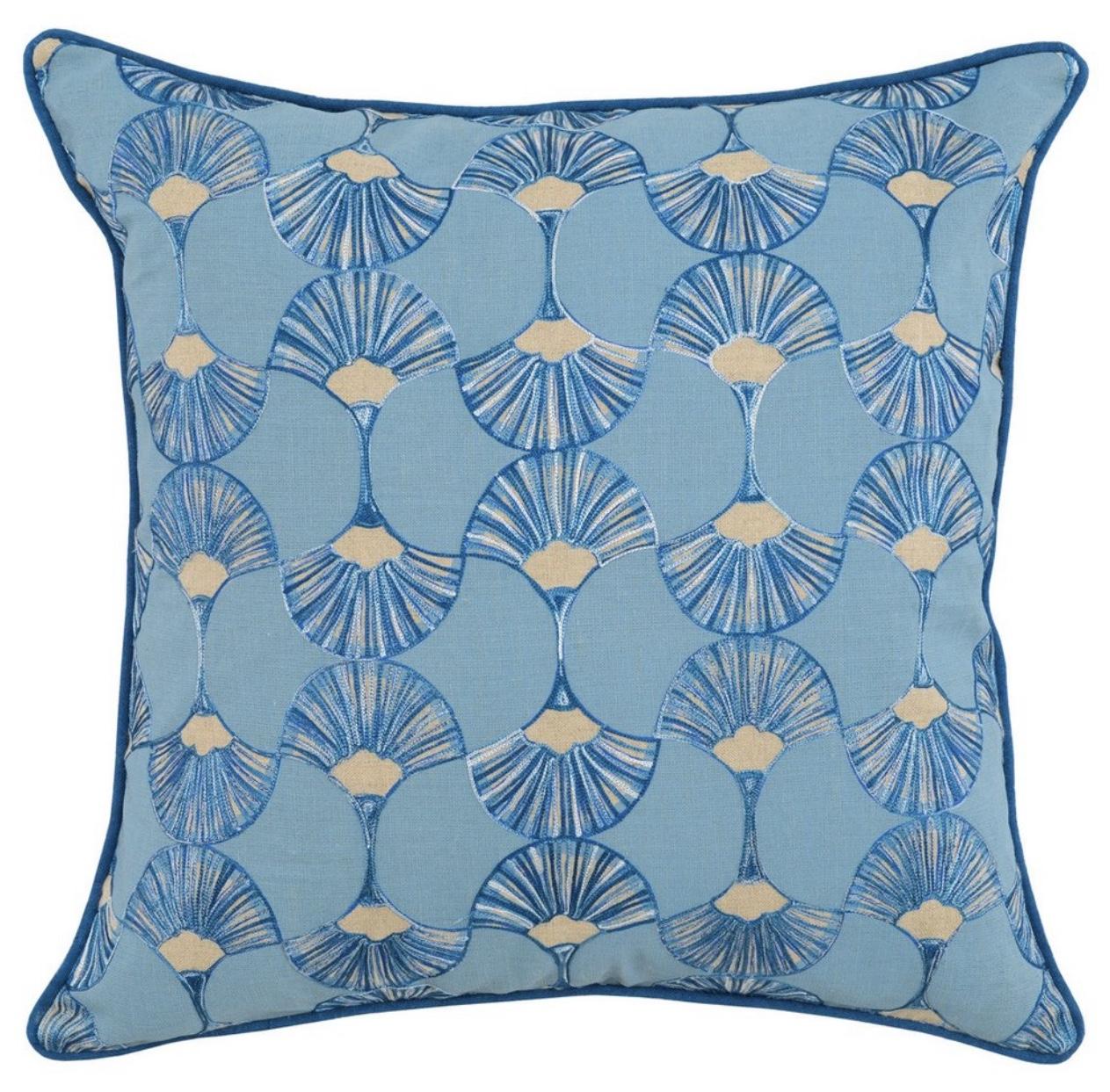 Artemis Marlin Blue Throw Pillow