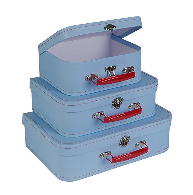Light Blue Retro Paperboard Suitcases