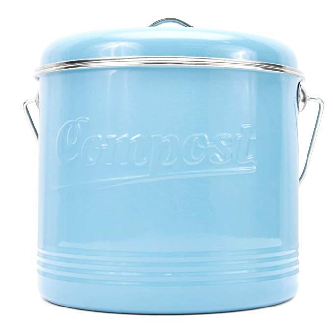 Light Blue Compost Bin