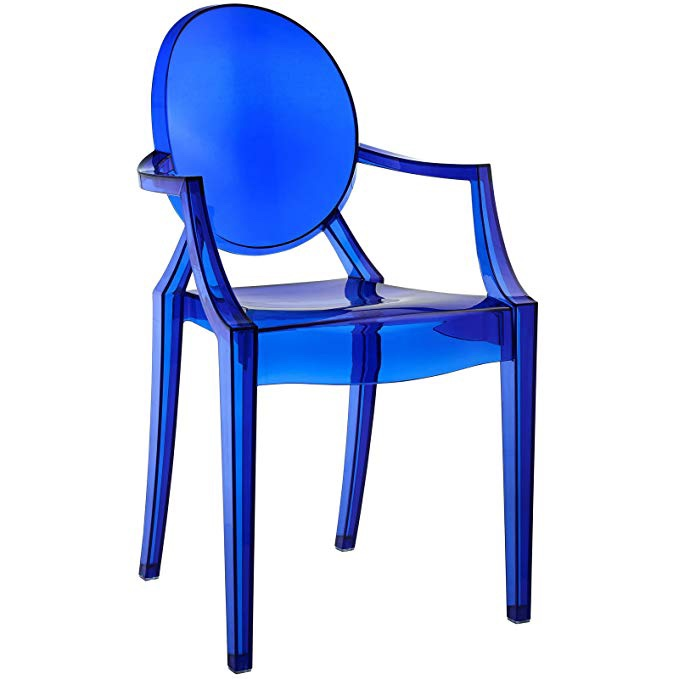 Mod Blue Acrylic Chair