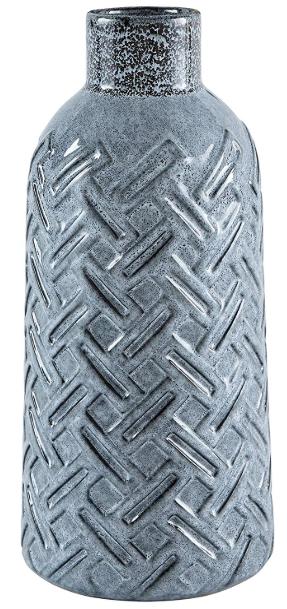 Crosshatch Ceramic Vase
