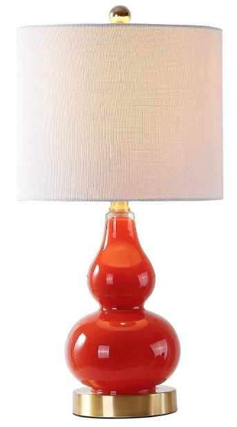 Sunset Orange Table Lamp