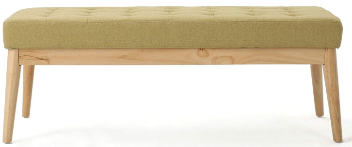 Bright Green Fabric Bench