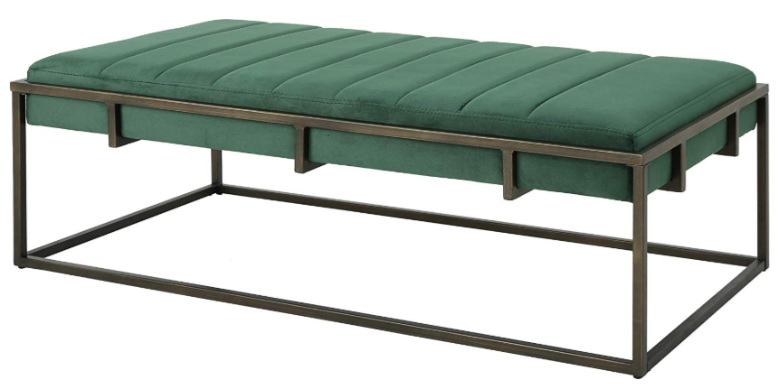 Emerald Green Velvet Bench