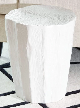 White Trunk Stool