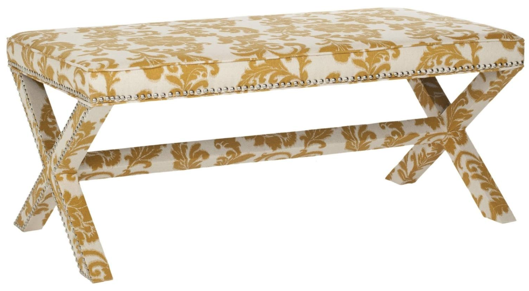 Maize and Beige Bench
