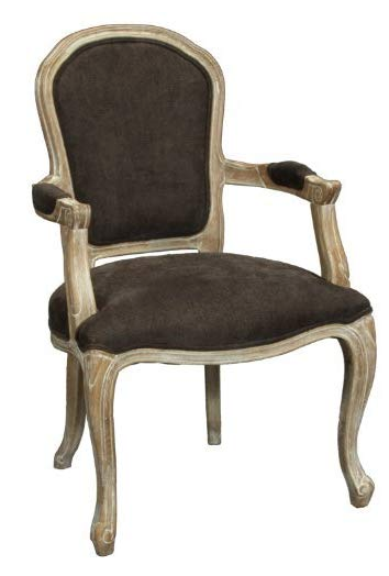 Dark Grey Weathered Accent Chair
