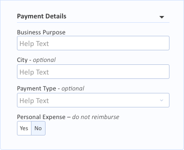 Payment Details Grouping