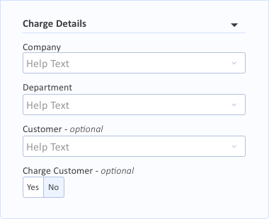 Charge Details Grouping
