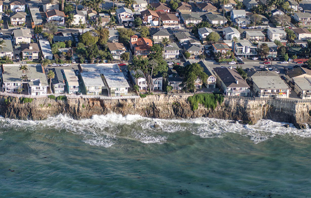 Isla Vista Cliffs during a King Tide. Photo (c) Bill Dewey